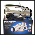 3 LED Flashlight/ Fm Radio Handcrank