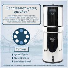 Crown Berkey Stainless Steel Water Filter