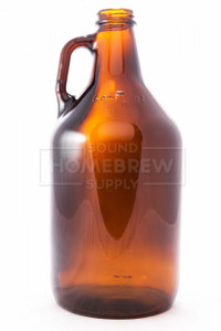Growler, 1/2 Gallon (64oz) Amber