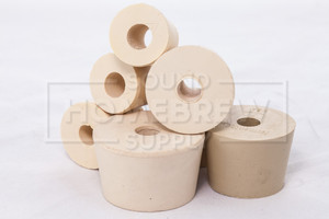 Rubber Stopper, Drilled No. 7