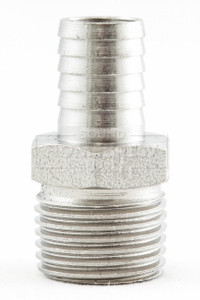 "Barb, Stainless 1/2"" mpt x 1/2"""