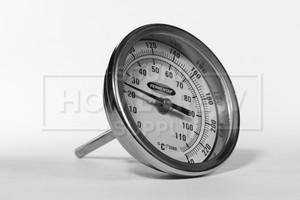 """Thermometer, Dial - 1/2 npt w/ 3"""" Diameter & 2.5"""" Probe"""