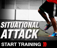 Situational Soccer Attack Drill