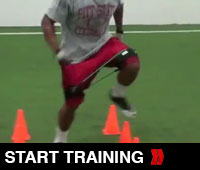 Football Agility Drill With Kbands