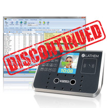 Lathem FR700 100 Employee Facial Recognition Employee Time Clock with Badge Reader