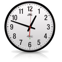 "Lathem 12"" Round Wireless Analog Wall Clock - Discontinued"