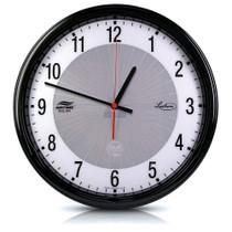 "Lathem 12"" Round Solar Powered System Clock - Discontinued"