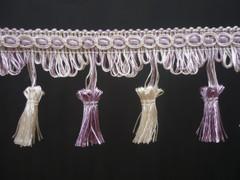Flamencos 70mm Tassel Fringe, Colour Lilac Twist