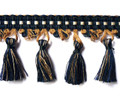 Kingsford 80mm Tassel Fringe, Colour Navy/ Bronze
