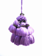 Jewel 70mm Key Tassel, Colour 1 Purple