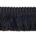 Oxford Cotton 37mm Cut Ruche, Colour 1 Black