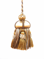 Alexander 200mm Key Tassel, Colour 1 Gold/ Coffee