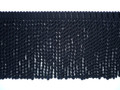 Burma 150mm Cotton Bullion Fringe, Colour Black