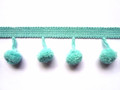 12mm Ball Pom Pom Fringe, Colour 8 Turquoise [ONLY 9 METRES LEFT]