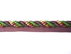 Jamaica 8mm Flange Cord Colour Grape/ Emerald