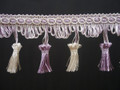 Flamencos 70mm Tassel Fringe, Colour Lilac Twist 10 metre Lot Buy