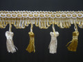 Flamencos 70mm Tassel Fringe, Colour Gold/ Alabaster 10 metre Lot Buy