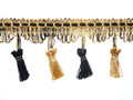 Flamencos 70mm Tassel Fringe, Colour Gold/ Black 10 metre Lot Buy
