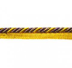 Bagdad 8mm Flange Cord, Colour 1 Purple/ Citrus Gold