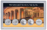 """Frosted 3"""" x 5"""" Case for 2006 Commemorative Nickels (5 Holes)"""