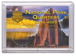 "Frosted 2"" x 3"" Case for National Park Quarters Rock and Eagle  (2 Holes)"