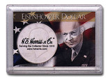 "Frosted 2"" x 3"" Case for Eisenhower Dollars (1 Hole)"