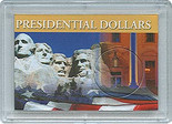 "Frosted 2"" x 3"" Case for Presidential Dollars (1 Hole)"