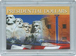 "Frosted 2"" x 3"" Case for Presidential Dollars (2 Holes)"
