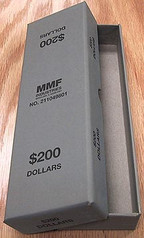 Box for rolled Small Dollars -Gray
