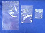 "3"" x 5"" Re-Sealable Poly Zipper Bags- 100 count"