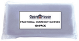 Guardhouse Sleeves for Fractional Currency - Pack of 100