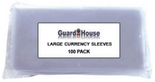 Guardhouse Sleeves for Large Currency - Pack of 100
