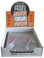 SuperSafe 3 Pocket Currency Pages-Archival - Pack of 100