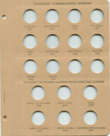 Dansco Album-Supplemental Page 3 2007-2009 State Quarters and Territories for  #7146 Statehood Quarters 1999-2008
