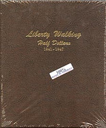 Dansco Album #7161- Liberty Walking Half Dollars 1941-1947