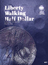 Whitman Folder- Liberty Walking Half Dollars #2- 1937-1947