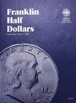 Whitman Folder- Franklin Half Dollars -1948 -1963