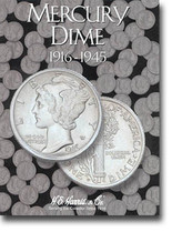 H.E. Harris Folder: Mercury Dimes 1916-1945