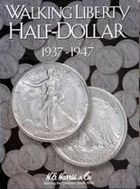 H.E. Harris Folder: Walking Liberty Half Dollar #2 1937-1947