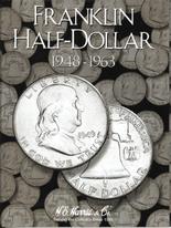 H.E. Harris Folder: Franklin Half Dollars 1948-1963