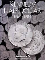 H.E. Harris Folder: Kennedy Half Dollars #1 1964-1984