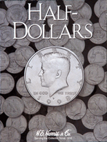 H.E. Harris Folder: Half Dollars- Plain