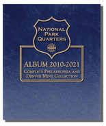 Whitman Album #3057- National Park Quarters 2010-2021 P&D