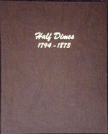 Dansco Album #6120 - Half Dimes 1794-1873