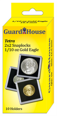 Guardhouse 2x2 Tetra Snaplock for One Tenth Oz Gold Eagle - Pack of 10