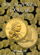 H.E. Harris Folder: Sacagawea Dollars 2005-2008