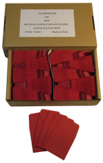 Archival Paper Coin Envelopes - Red -Pack of 500