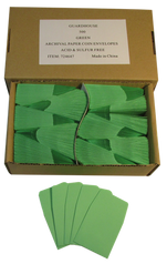 Archival Paper Coin Envelopes - Green -Pack of 500