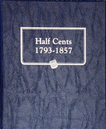 Whitman Album #9109 - Half Cents 1793-1857