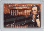 "Frosted 2"" x 3"" Case for Lincoln Bicentennial Cents (2 Holes)"
